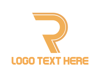 Fortune - Golden Letter R logo design