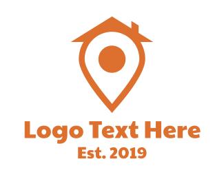 Gprs - Orange Pin House logo design
