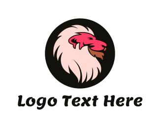 Black And Pink - Pink Lion logo design