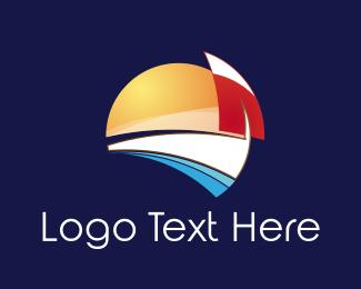 Sunlight - Beach Sunrise logo design