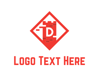 Brick - Red Tower logo design