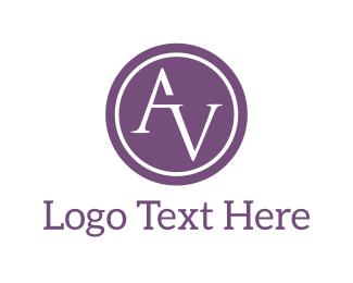 Letter V - A & V logo design