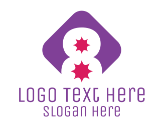 Explosive - Number 8 Explosion logo design