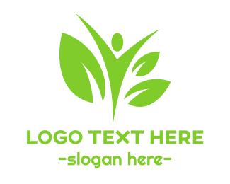 Man - Green Man logo design