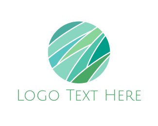 Yard - Mint Grass Circle logo design