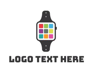Mobile Application - Smart App Watch logo design