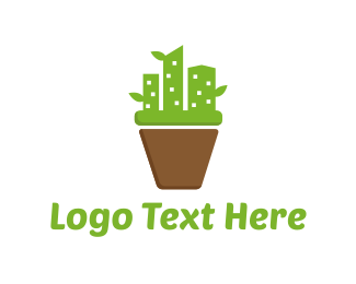 Flower Pot - Cactus City logo design