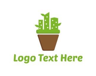 City - Cactus City logo design