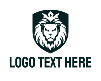 Hip Hop - King Lion Shield logo design