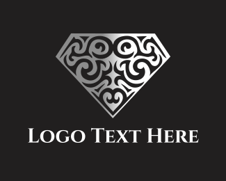 Metalwork - Floral Diamond logo design