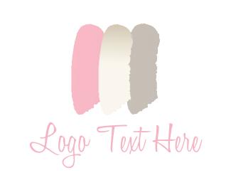 Makeup Artist - Feminine brushstrokes logo design