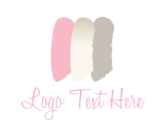 Cosmetic - Feminine brushstrokes logo design