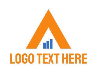 Bar Chart - Financial Triangle logo design