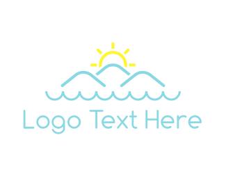 Fjord - Ocean & Mountains logo design