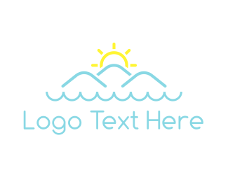 Mountain - Ocean & Mountains logo design