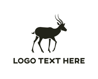 Antlers - Black Gazelle logo design