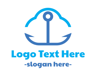 Seaman - Anchor Cloud logo design