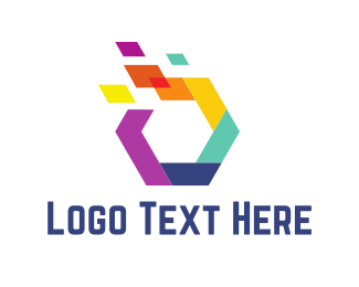 Design Agency - Colorful Hexagon logo design