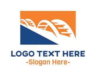 Tourism - Blue Yellow Bridge logo design