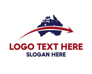 Australia - Australia Map logo design