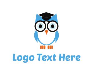 School - Owl Graduation logo design