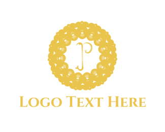 Luxury - Floral Letter P logo design