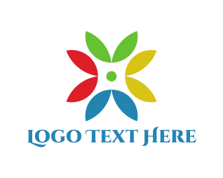 Petals - Colorful Petals logo design
