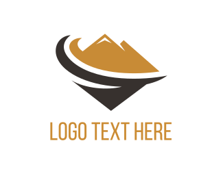 Black And Brown - Brown Mountain logo design