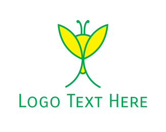 Green And Yellow - Yellow & Green Insect logo design