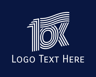 Run - 10 Kilometers logo design