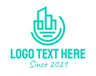 Establishment - Modern Geometric City logo design