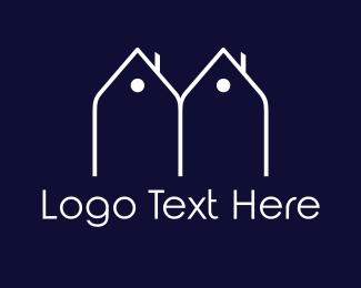 Twin - Twin Houses logo design