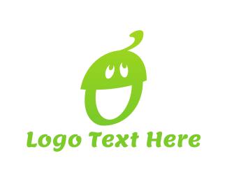 Nut - Happy Acorn logo design