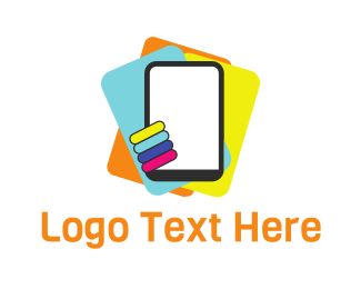 Phone Repair - Colorful Tablets logo design