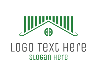 Roofing - Green House logo design