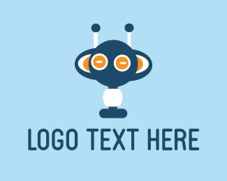 Martian - Blue Monster logo design