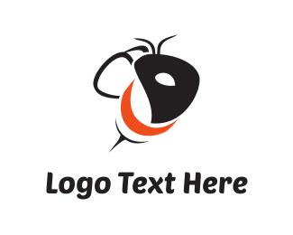 Ant - Black Wasp logo design