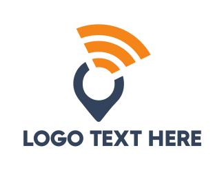 Location - Wifi Locator logo design