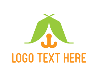 Tent - Pet Camp logo design