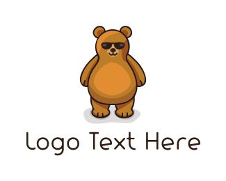Brown - Cool Bear  logo design