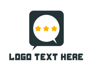 Review - Star Chat logo design