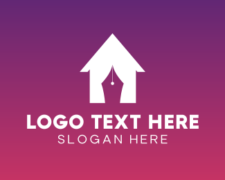 Home Decor - House Curtain logo design
