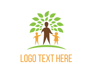 Family - Family Tree logo design