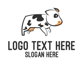 Moo - White Cow logo design