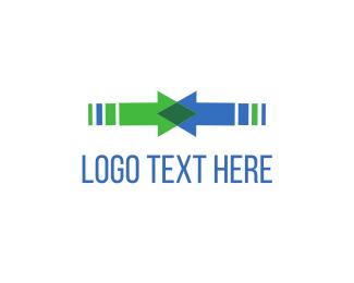 Union - Colliding Arrows logo design