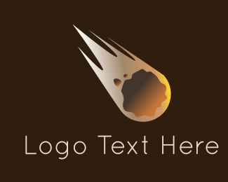 Asteroid - Meteorite Flying logo design