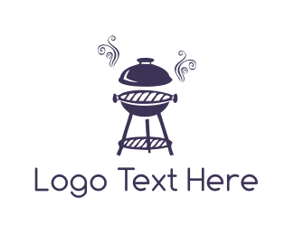 Roast - Purple Barbeque logo design