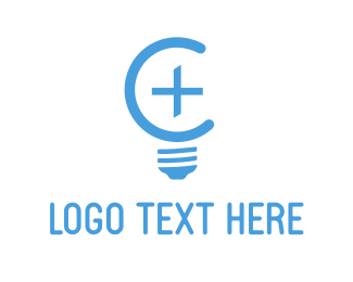 Bulb - Positive Light logo design