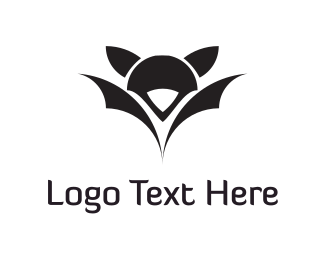 Vampire - Black Bat logo design