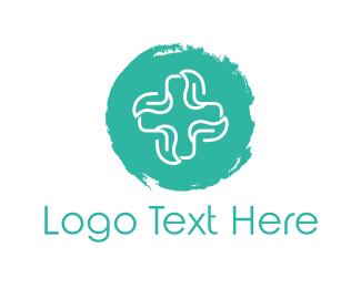 Cross - Mint Cross logo design